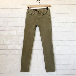 J.Crew Olive Green Toothpick Soft Sueded Pants